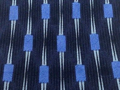 Designer Tie Courreges Blue Spots on Dark Grey Silk Men NeckTie 49