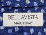 Animal Print TIE  BELLAVISTA Chubby Elephant dot on Blue  Silk Men Necktie 20