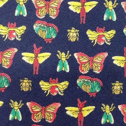 INSECT BUTTERFLIES BEETLES FIREFLY NOVELTY REPEAT Theme SILK MEN NECK TIE 14
