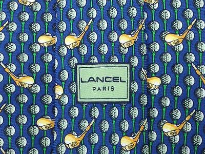 Novelty TIE LANCEL Golf Theme Silk Men Necktie 22