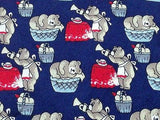 Animal Tie Stefano Rosi Bears On Picnic On Dark Blue Silk Men Necktie 42