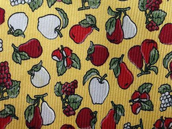 Apples & Berries Fruits TIE Small Repeat Novelty Silk Men Necktie 18
