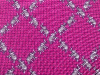 Animal Tie Jim Thompson Brown Elephant Row on Red Silk Men Necktie 45