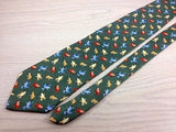 Animal Tie Structure Colored Frongs on Grey Blue Silk Men NeckTie 30