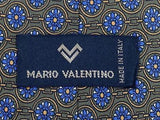 Floral TIE Mario Valentino Snowflake Dot Made in ITALY Silk Men Necktie 9