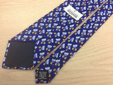 TRUSSARDI Italian Silk Tie - Blue with Pop Tulip Pattern 40