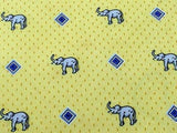 Animal Tie Rykiel Homme Elephant on Yellow Polka Dot Silk Men Necktie 45