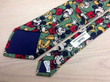 Novelty Tie Lloyds Mickey Mouse on Basil Green Silk Men Necktie 47