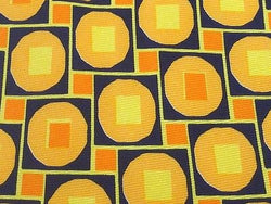 STUDIO MICHELE Italian Silk Tie - Bright Yellow and Blue Modern Geometric 40