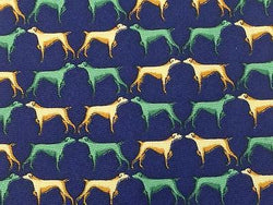 Animal Print TIE DOG FACE TO FACE REPEAT ON BLUE Silk Men Necktie 26