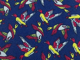 BRUNO VIOLA Italian Silk Tie - Navy with Red and Yellow Mallard Pattern 27