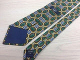 Novelty Tie Dunhill Pine Leaves with Oval Frame  Men Necktie 48
