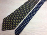 TOMMY HILFIGER Silk Tie - Blue with Gold Paisley Design 36