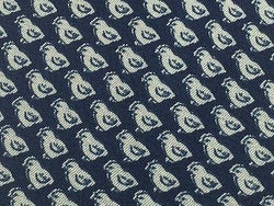 GIORGIO ARMAN Italian Silk Tie - Dark Navy with White Penguin Pattern 40