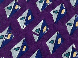 ROBERT TALBOTT for NORDSTROM Silk Tie - Purple w Abstract Geometric Pattern 36