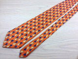 Animal Tie Feliciani Koala Panda With Flowers On Orange Silk Men Necktie 29