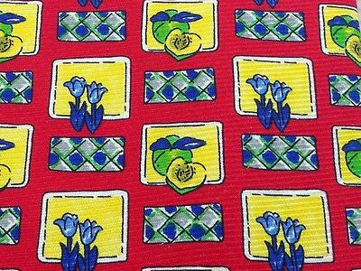 Novelty Tie Gregory Cravatte Fruits And Flowers On Red Silk Men Necktie 29