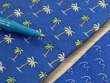 TOMMY HILFIGER Silk Tie - Blue with Palm Tree Pattern 36