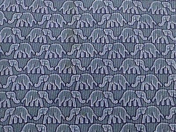Animal Tie Jim Thompson Elephant on Grey Silk Men NeckTie 46