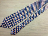 Novelty Tie Golf Ball & Stick on Dark Blue Silk Men NeckTie 30
