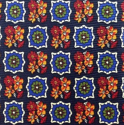 SPLENDID Royal Ste-Anne Floral small repeat Tie Made Italy100% Silk men necktie