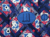 Floral TIE Alfred DUNHILL Flower Check Made in ITALY Silk Men Necktie 9