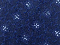 Floral TIE UNGARO PARIS Floral on Blue Silk Men Necktie 22