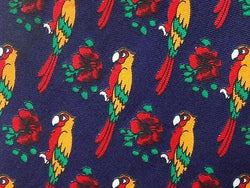 Parrot TIE Exotic Bird Theme Repeat Animal Novelty Silk Men Necktie 17