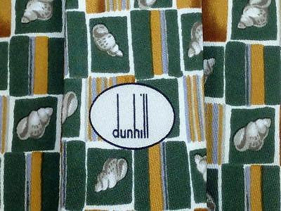 Animal Print TIE Dunhill Shell Square Check Green Silk Men Necktie 25