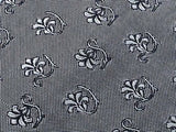 KIABI Silk Tie - Black, Silver & Gray Pattern - Exquisitie  35
