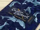 Custom Tailored 100% Polyester Tie - Navy with Dolphin Pattern  34