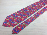 Novelty Tie SETA Dancing Clowns on Magenta Silk Men Necktie 48