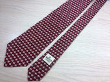 KRIZIA UOMO Italian-made Silk Tie - Dark Red & Maroon Pattern  34