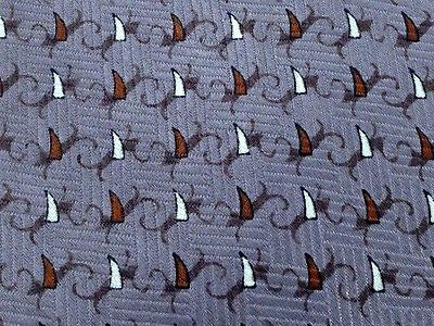 ANGELO GUTTI Italian Silk Tie - Gray Parquet w Copper, White & Black Pattern 36