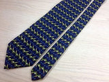 ANTICHIE SETERIE FIORENTINE Italian Silk Tie - Navy with Golf Tee Pattern  35