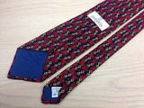 Novelty Tie Givenchi Red Leaves On Dark Blue Silk Men Necktie 42