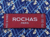 Floral TIE Flower Geometric ROCHAS Paris Silk Men Necktie 24