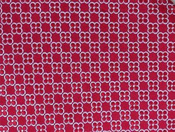 Geometric TIE Artesano Floral Dot RED Made in ITALY Silk Men Necktie 8