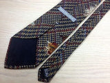 VAN HEUSEN Silk Tie - Blue & Rust Plaid with Duck Hunting Design  34