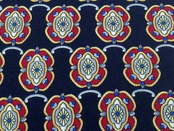 Designer Tie Christian Dior Flower logo  on Blue Silk Men NeckTie 46