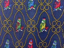 Exotic Birds Parrot TIE Repeat Animal Novelty Silk Men Necktie 18