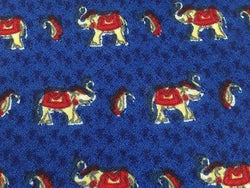 Animal Tie Cauvery Elephants On Dark Blue Silk Men Necktie 43