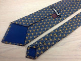 Novelty Tie Oxford Rifel with Bag on Blue Silk Men Necktie 48