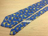 Animal Tie Valentino Garavani Seal Playing with Ball on Blue Silk Men Necktie 32