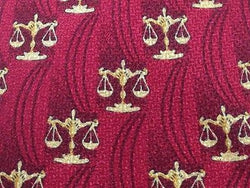 Novelty Tie Lionetti Golden Beam Balance on Red garnet Silk Men Necktie 48