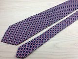 Designer Tie Windsor Multicolored Design on Navy Blue Silk Men Necktie 47