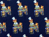 Novelty TIE Teddy Bear at Restaurant Chef Made Italy Repeat Silk Necktie 4