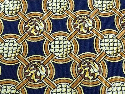 Designer Tie Rochas Skin Pattern On Dark Blue Silk Men Necktie 43