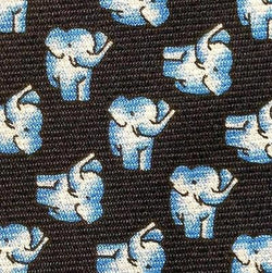 LITTLE ELEPHANTS POLKA DOT ANIMAL NOVELTY REPEAT SILK MEN NECK TIE 16