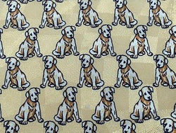 Animal Tie Best Seller Brown Dogs On Off White Silk Men Necktie 29